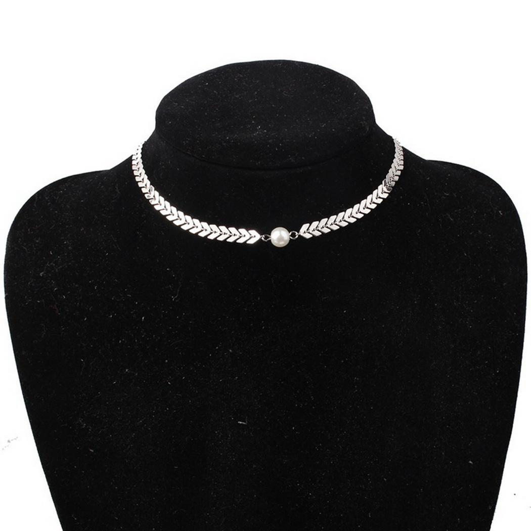 Neue mode faux perle schlüsselbein kette frauen halskette schmuck zubehör mode frauen halskette