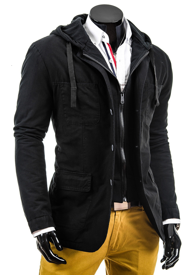 2016 New Fashion Spring Autumn Male Casual Jacket Hooded Mens Jackets And Coats Size M-2XL