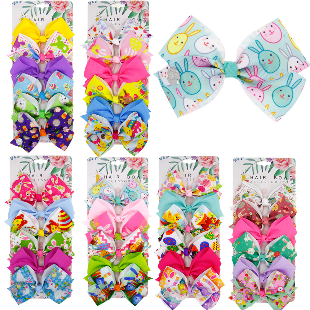 Leisure 4 X Cartoon BB Head Barrettes Hair Clip for Baby Girls Random Pattern SP