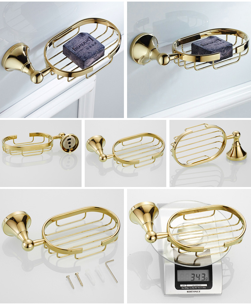 Gold soap basket 2
