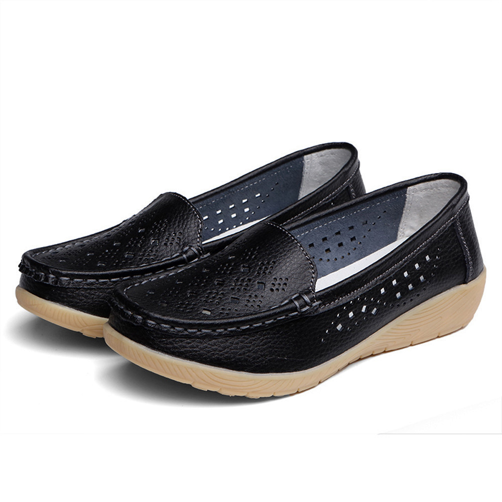 Pumps Shoes Women Casual Wedges Soft Bottom Outdoor Comfortable Slip On Peas Boat Shoes Zapatos De Mujer
