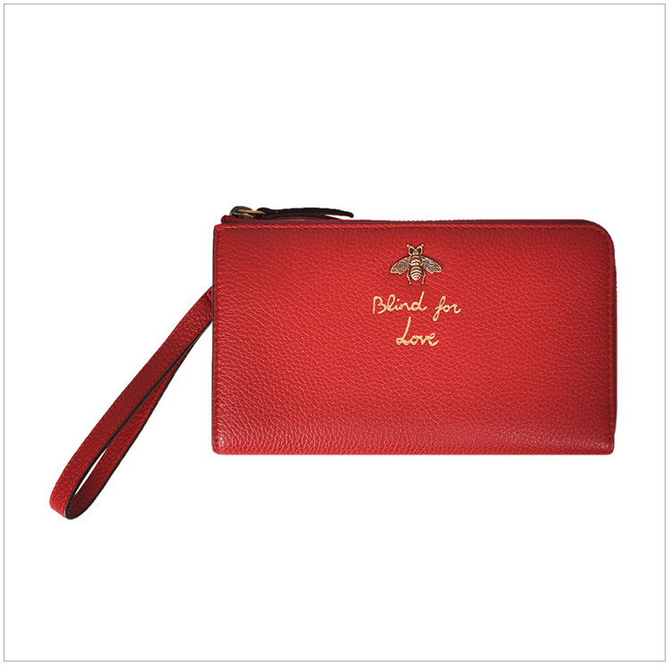 ladies black leather bee gilded letter clutch bag dinner bag red red red red