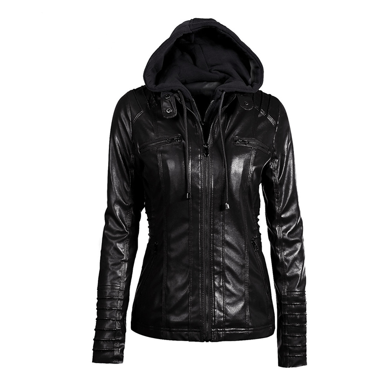 Sisjuly Jacket Coat Women 2019 Winter Slim Zipper Hooded Coat Donna Warm Casual Capispalla Solid 2xl Fall Giacca di pelle Cappotti Y190826