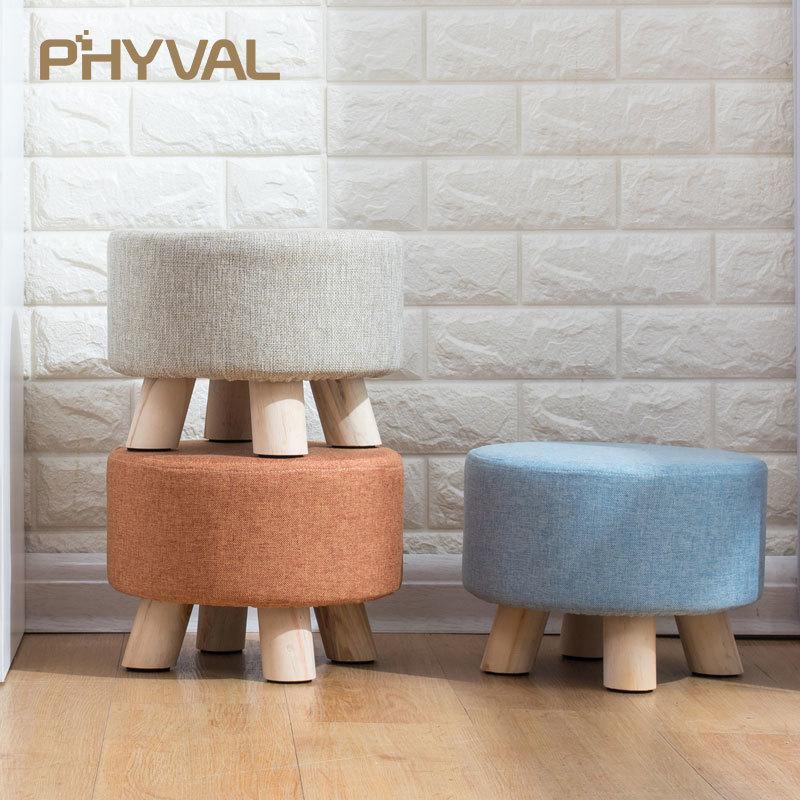 Fourseasons Cuscino imbottito rotondo sgabello da bar confortevole seduto per sgabelli rotondi in legno metallo rosa