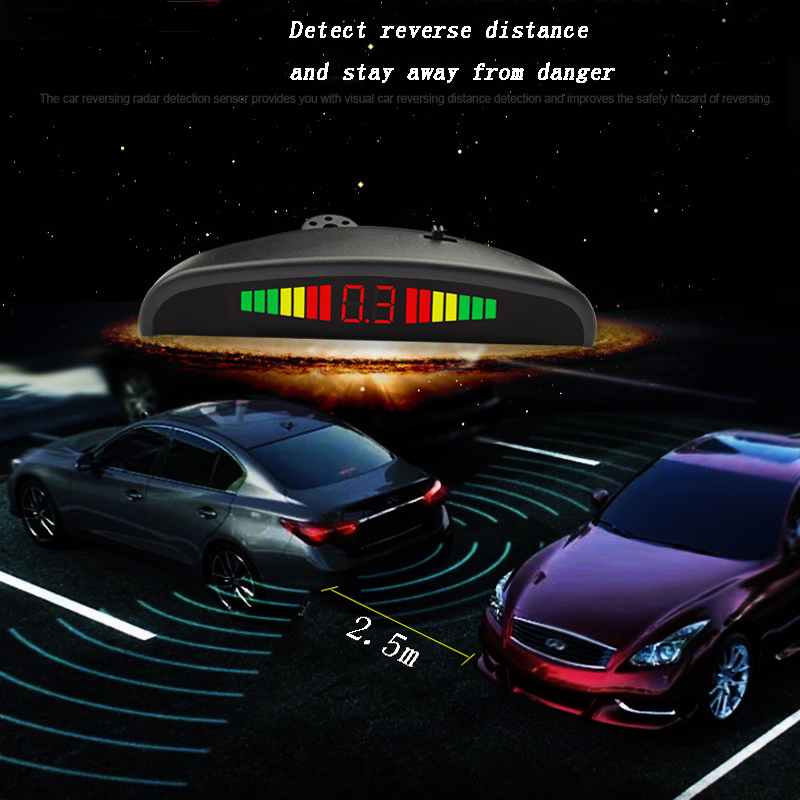 Car Parking Sensor Reversing Radar Vehicle Backup Detector System Reversing Radar Probe Pack Of 4 Black