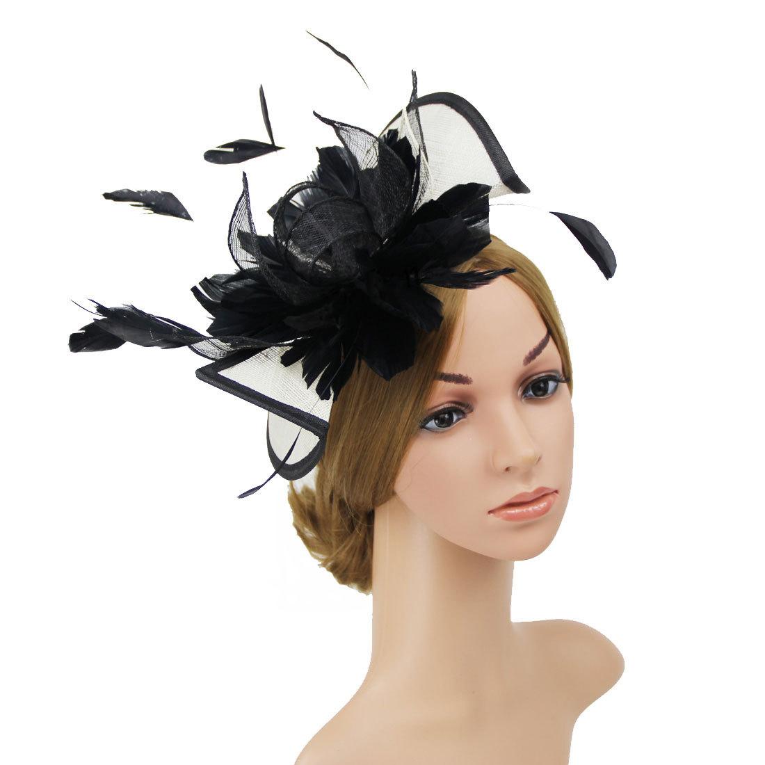 Elegante Fascia Per Capelli Alice Banda Fascinator Con Cappello Matrimoni Gare Donna Giorno Royal Ascot