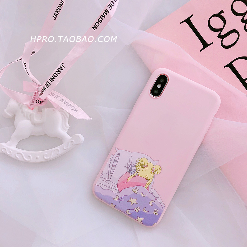 Pink Anime Kawaii Sailor Moon Case For Iphone 6 6 6s 7 8 X Cases Tpu Soft Back Cover