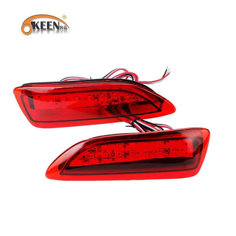 12 V 2011-2012 Toyota Corolla Lexus Için CT Arka Tampon Reflektör Işık LED Park Uyarı Fren Kuyruk Lambası Kırmızı Lens 2 adet