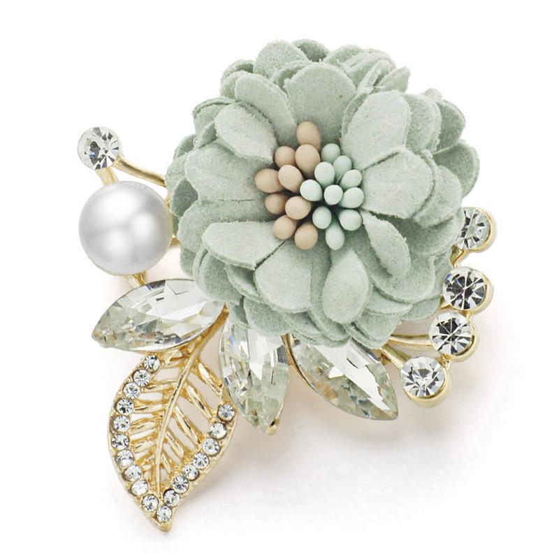 Blumen Perle Brosche Cute Schal Schal Schnalle TShirt Pullover Ornament Schnalle