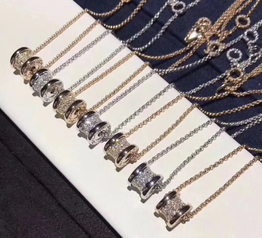 Women's jewelry 2019 early summer new fashion full diamonds solid sterling silver gold plated fine classic necklacefor