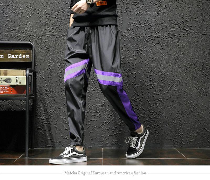 Loose Hip Hop Cargo Pants Men Camouflage Patchwork Harem Mens Trousers Streetwear (22)