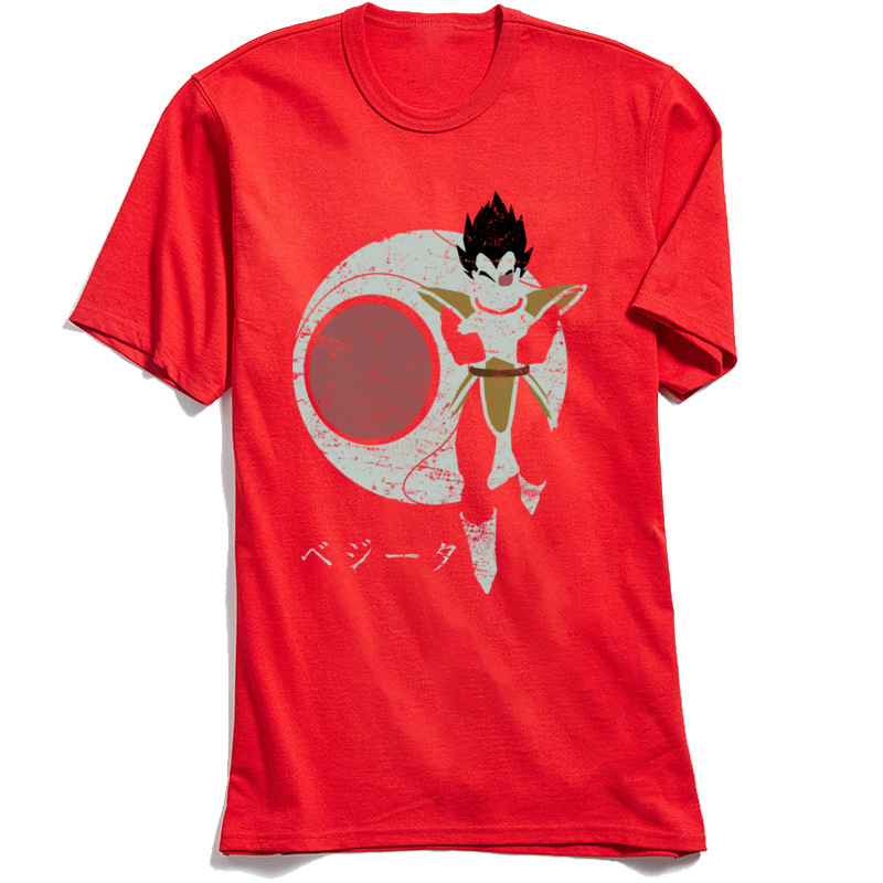 3D Printed Searching for Kakarot T-Shirt for Adult Newest Summer Fall Round Neck Cotton Fabric Short Sleeve T-Shirt Tops Shirts Searching for Kakarot red