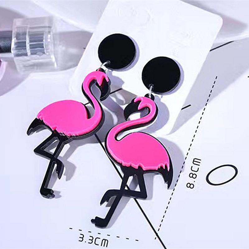 Flamingo Ave colgantes pendientes tropicales hawaiano hecho a mano
