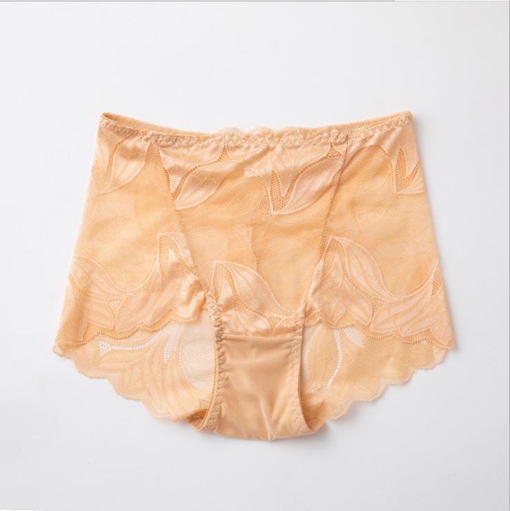 Big Size Underpants Ladies Lace High Waist Ruffles Body Short Female Sex Navy Blue Lovely Panty Flower Women' Underpants Plus Size Underwear