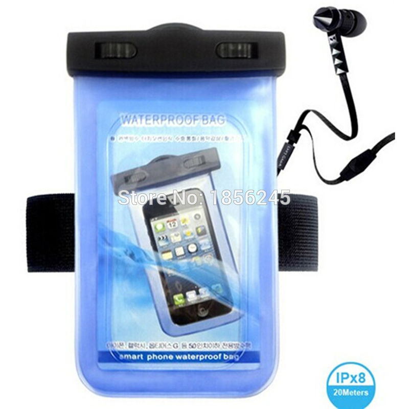 Universal Swimming Case Waterproof phone pouch With Watertight Earphone Drawstring Bags Against Water Jack for Up To 5 Inch1
