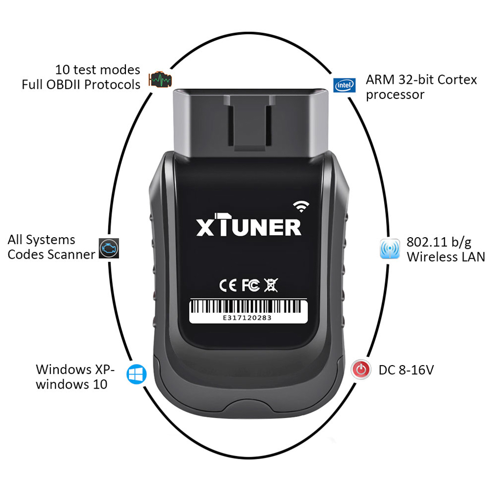 E3 V10.7 Scanner OBD2 WiFi Full Systems Diagnostic Tool Auto Scanner for Diag/EXP/Main Service Battery DPF Reset