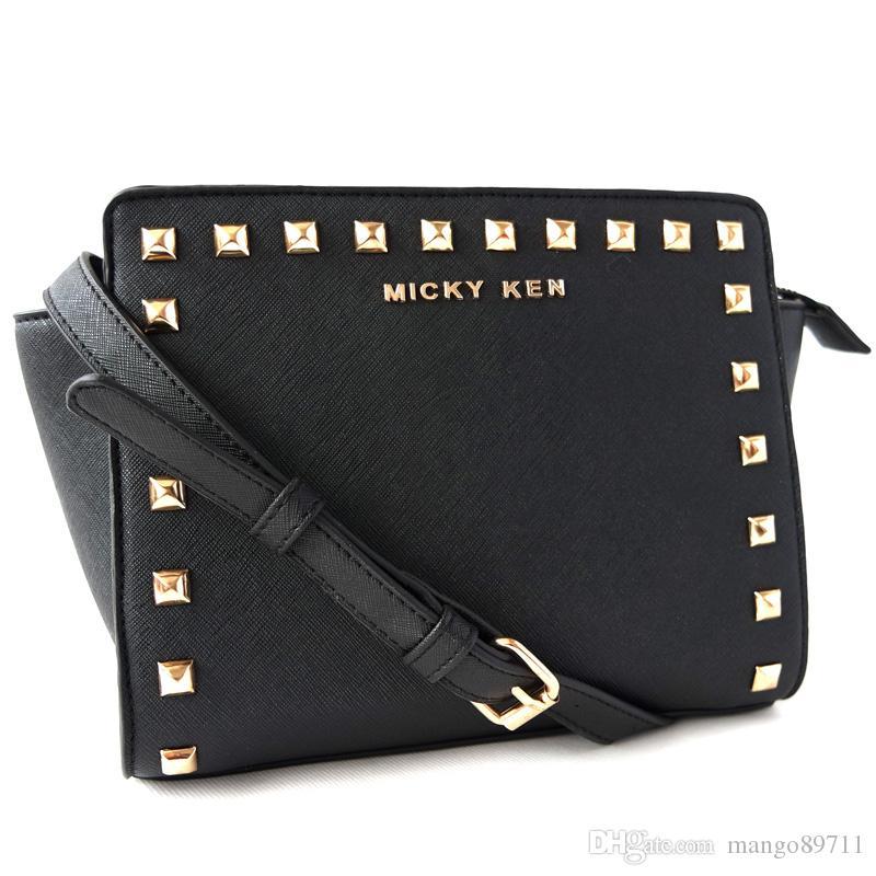 MICKY KEN High Quality PU Leather Women Crossbody Bags Fashion Rivet Design Women Shoulder Bags Color Shoulder Strap Ladies Handbags