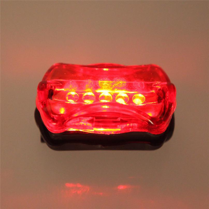 Waterproof Ultra Bright 5 LED Cycling Bicycle Light Set Bike Front Head Light + 5 LED Rear Safety Flashlight Tail light Lamp (6)