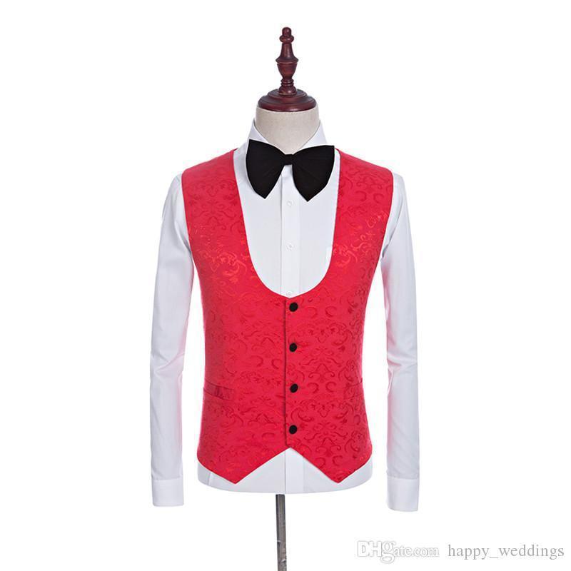 Nice Black Velvet Shawl Lapel Groom Tuxedos Red/white/black/royal Blue Men Suits Wedding Best Man Blazer jacket+pants+tie+vest