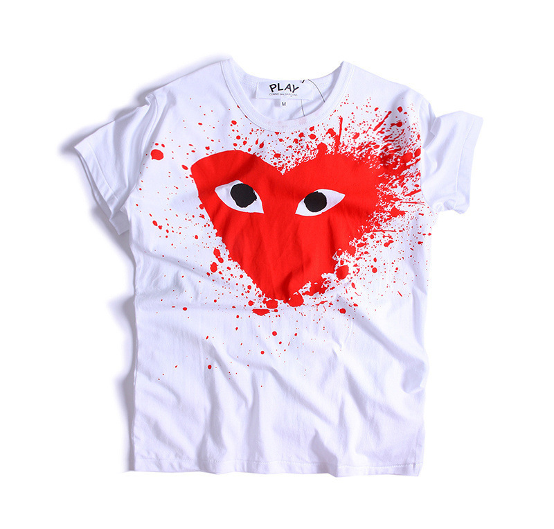 Male Women's Clothes Tide Cards Love Printing Short Sleeve Men And Women Lovers Pretend Leisure Time T T-shirt