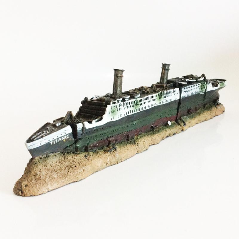 Grosshandel Titanic Verloren Ruinierte Boot Schiff Aquarium Dekoration Ornament Von Mqj88 24 12 Auf De Dhgate Com Dhgate