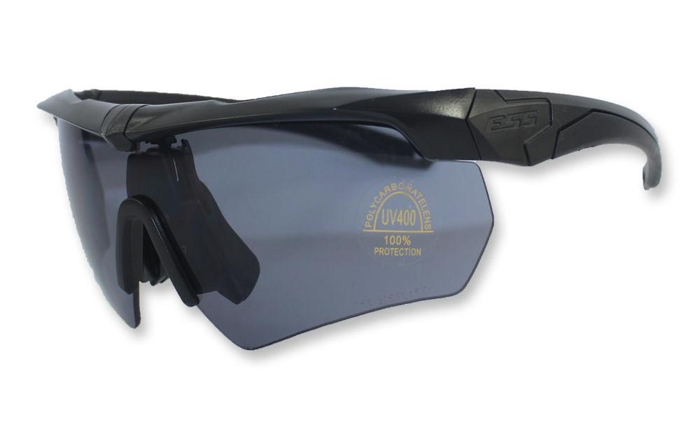 ESS Crossbow Military Sunglasses Eyewear Interchangeable 3Lens Black Frame Boxed
