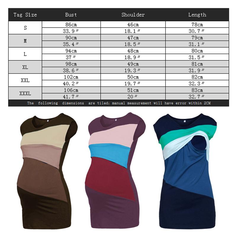 Enxi Summer Maternity Nursing Clothes Striped Sleeveless Thin Breastfeeding T-shirt For Pregnant Women Mother Feeding Top 3xl Y19052003