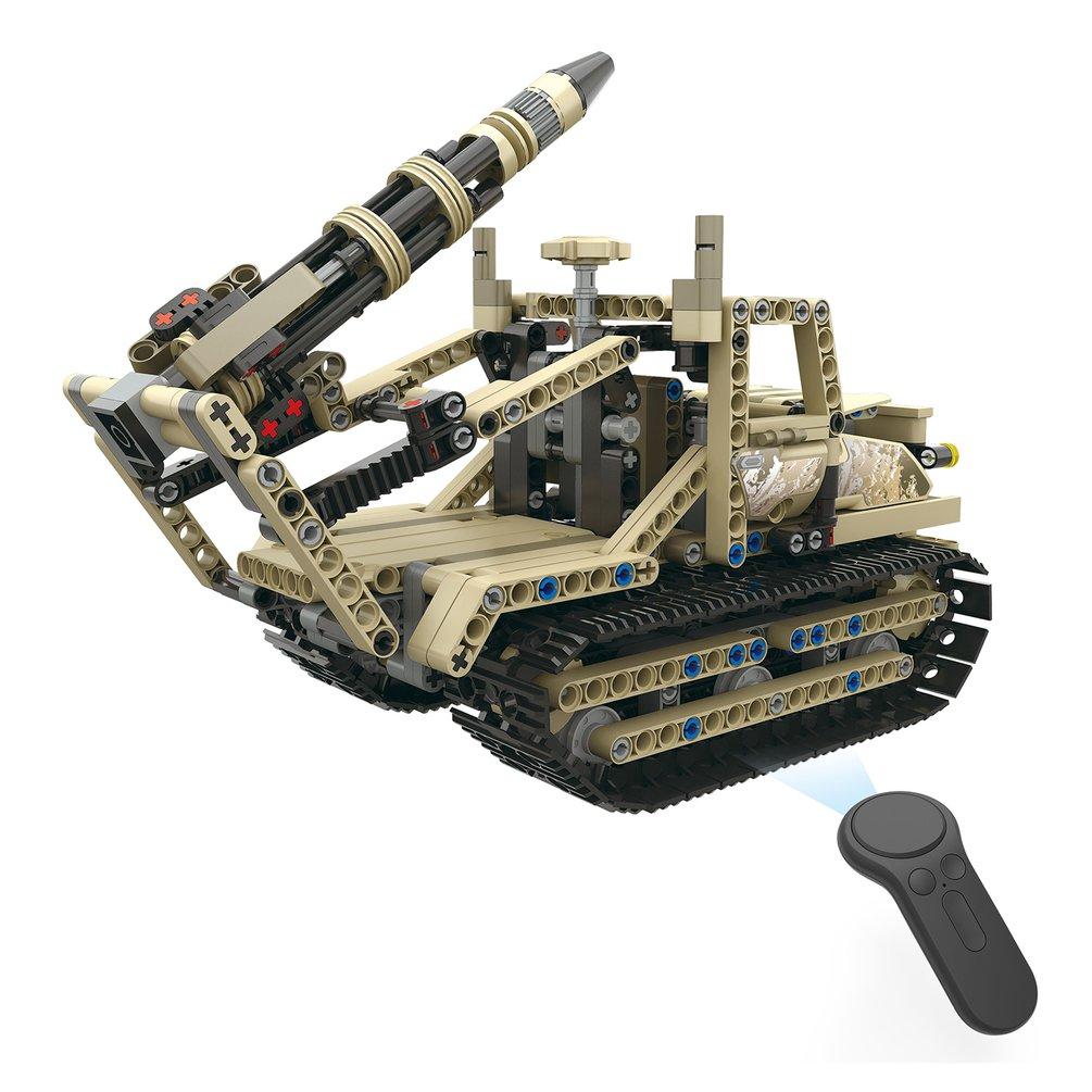 MoFun-13009 2.4G 4H USB Charging Building Block Simulated Military Vehicle DIY Electric RC Car Model For Children
