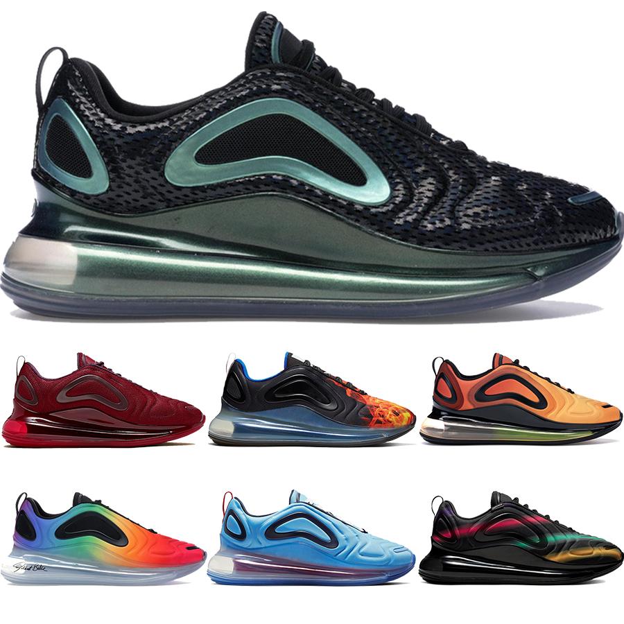 Nike Air Max 720 NOUVEAU Soyez Vrai 2019 Chaussures De Course De Luxe Designer Chaussures Obsidian Blue Fury Hommes Femmes Northern Lights Jour Rose