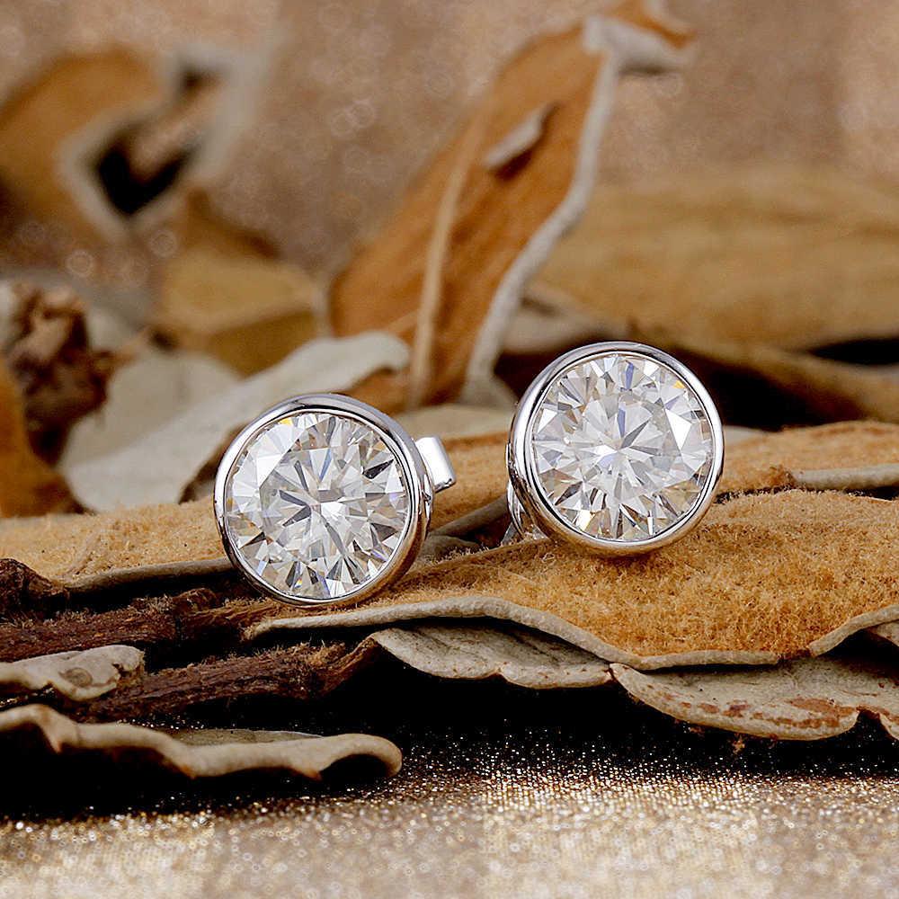 bezel moissanite earrings (2)