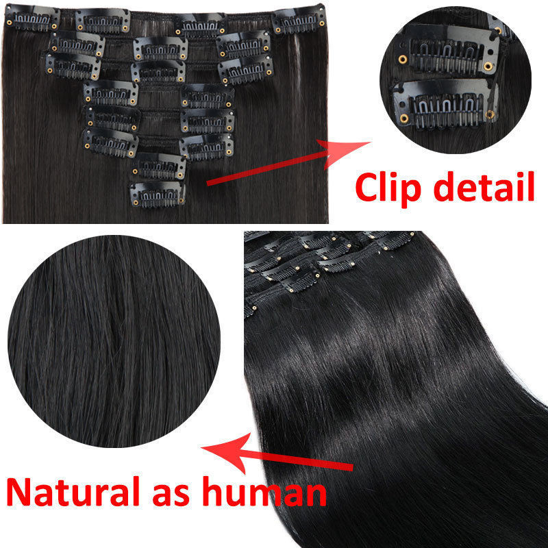 SNOILITE-24inch-8pcs-set-Straight-18-Clips-in-Hair-Extensions-Synthetic-Hairpiece-170g-False-Styling-Natural (1)