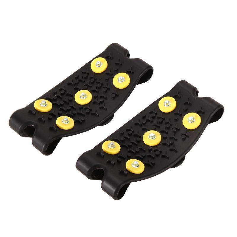Nuevo antideslizante Snow Ice Climbing Spikes Grips Crampon Cleats 5-stud Shoes Cover Envío gratis