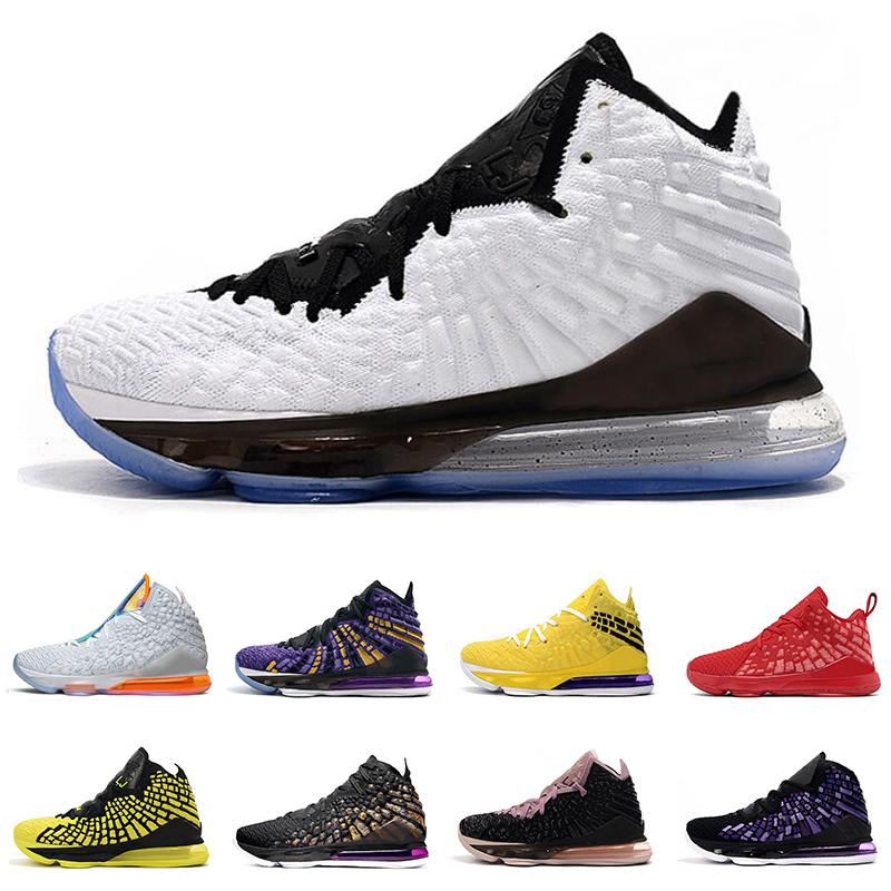 nike lebron 17 chaussures de basket ball pour hommes 17s MONNAIE blanc tribunal 17 jaune entraîneur des hommes de chaussures de sport de sport