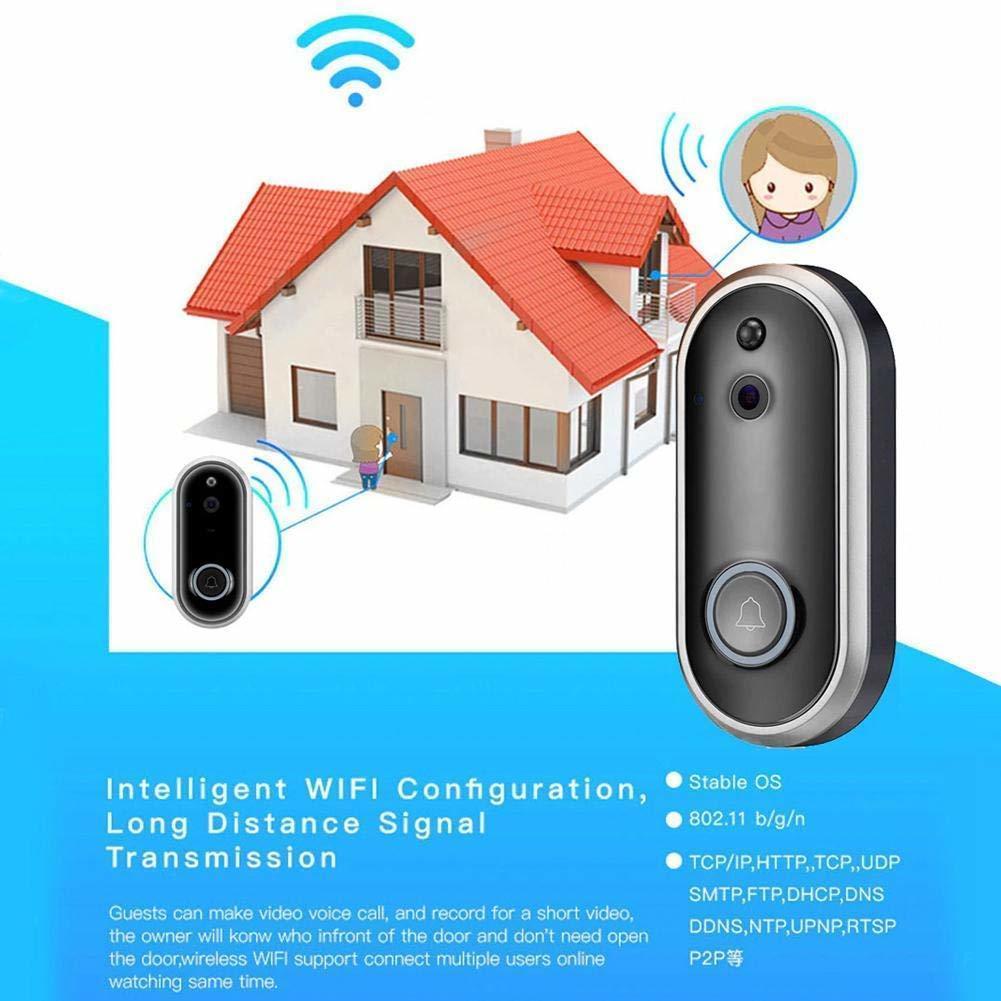 Videocitofono campanello con campanello senza fili intelligente campanello WiFi 1080P Home Security