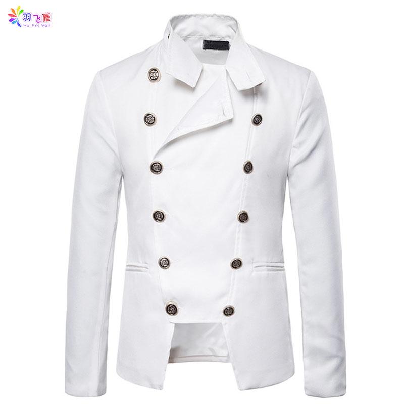 XQS Womens Double Breased Lapel Blazer Jacket Coats