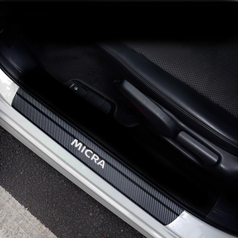For Chevrolet Chevy Camaro 2010 2011 2012 2013 2014 Car Car Door Sill Door Entry Guard Car Door Entry Protectors Carbon Fiber Vinyl Sticker Car-Styling 4Pcs