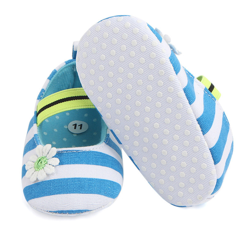 Summer Boys Girls Shoes Infant Kids Girls Baby Stripe Flower Shoes Soft Sole Anti-Slip Shoes First Walker NDA84L25 (20)
