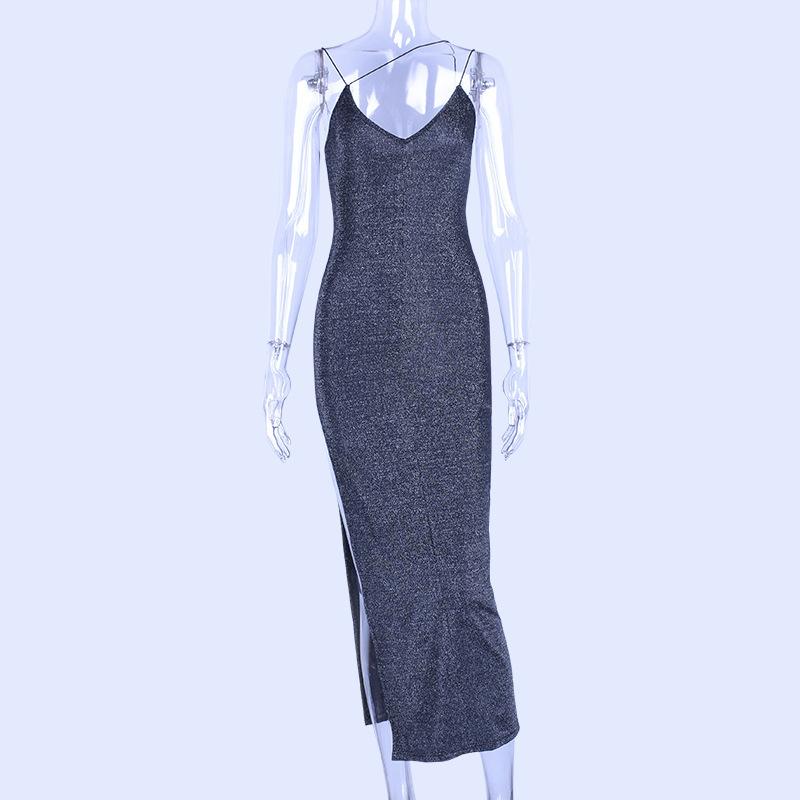 Vestido 2019 v Chumbo Side Vent Pacote Nádegas Auto-cultivo de Cintura Alta Camisola Saia Mulher