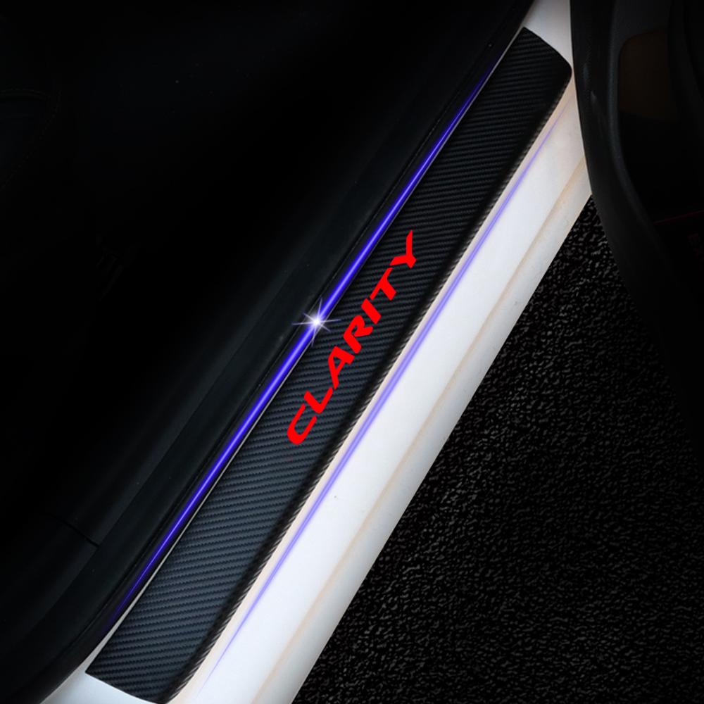 Порог двери автомобиля для Honda Clarity порог двери автомобиля порог потертости пластины охранники пороги 4D углеродного волокна виниловые наклейки авто аксессуары 4 шт.