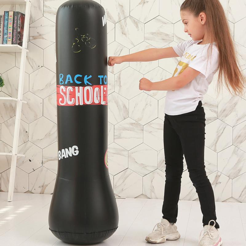 Kick Training Inflatable Boxing Punching Bag Sandbag Adult Children New 1.6M USA