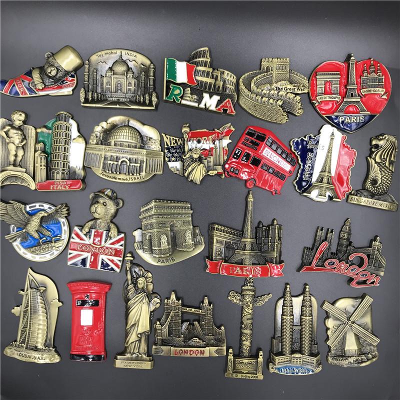 Kühlschrankmagnete Küche Sticker London Paris DE Reise Souvenir Flaschenöffner