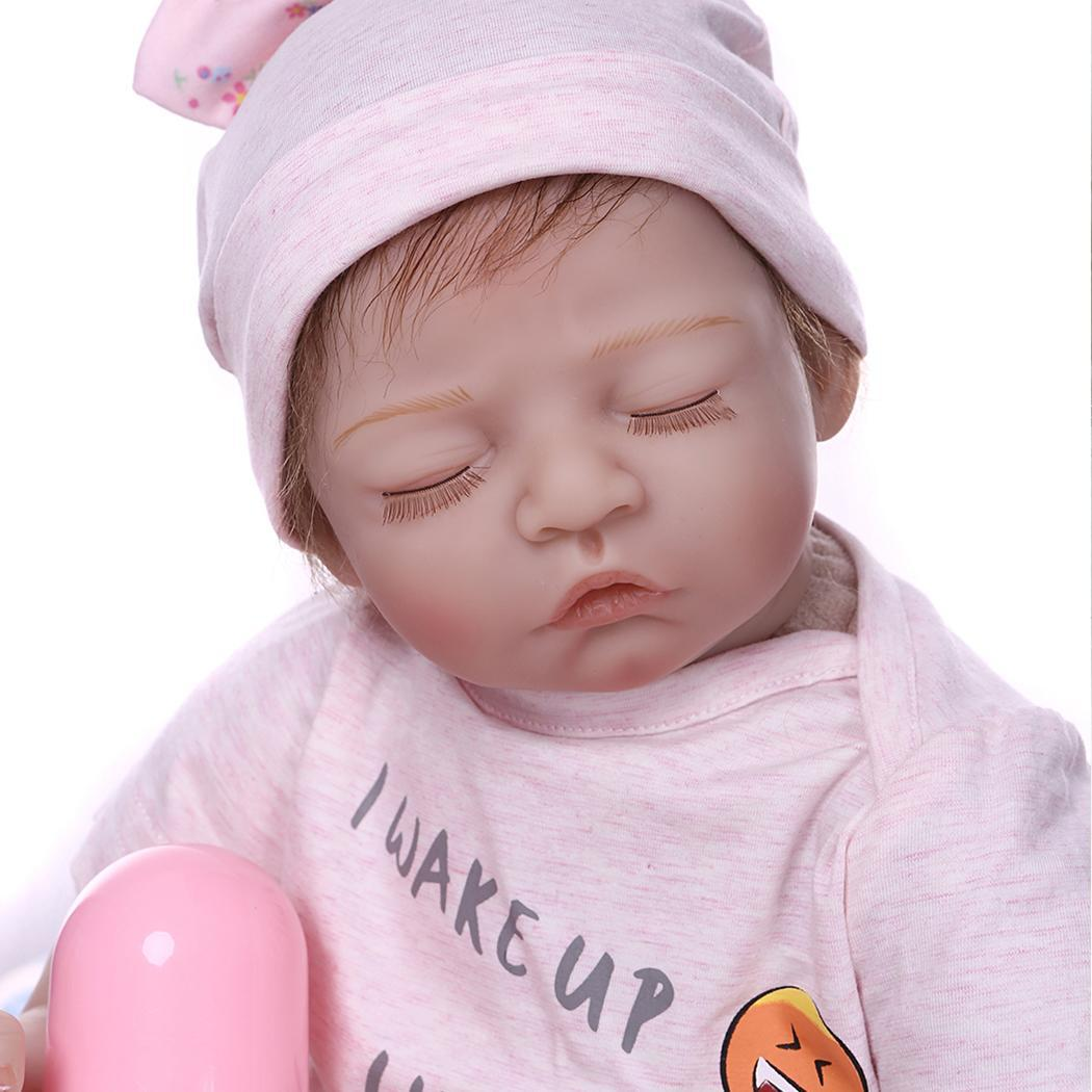 New Fashion Cute Simulated Soft Silicone Reborn Baby Dolls with Pacifier Kids Gifts New Fashion Simulated Baby Dolls