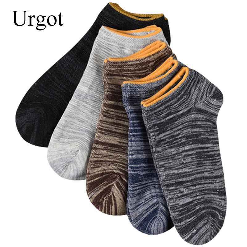 Mens athletic low cut Ankle sock Plaid printing Vintage brown Short Sports Sock