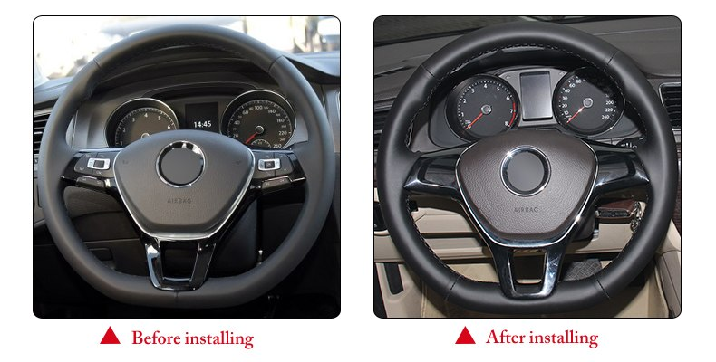 for VW New Polo steering wheel cover