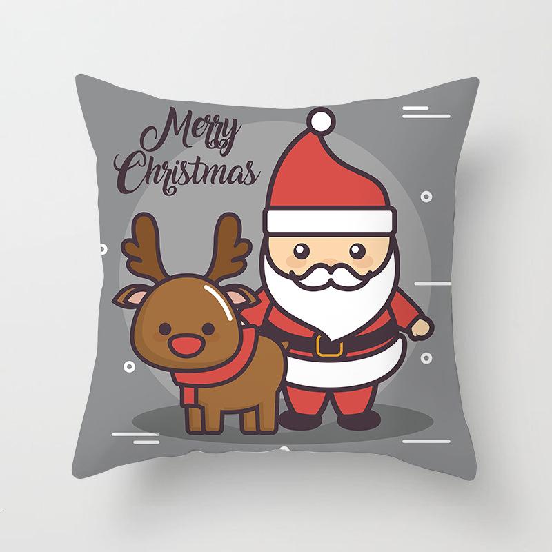 1Pcs 4545 Cm Happy New Year Christmas Decorations for Home Cartoon Santa Claus Xmas Decorative Pillows Cover adornos navidad (7)