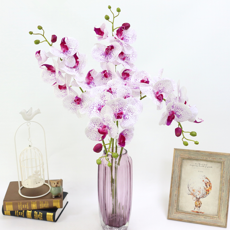 Artificial Orchid Flower 4 color Real Touch Artificial Butterfly Orchid flores artificial Wedding decoration home Festival Decor (11)
