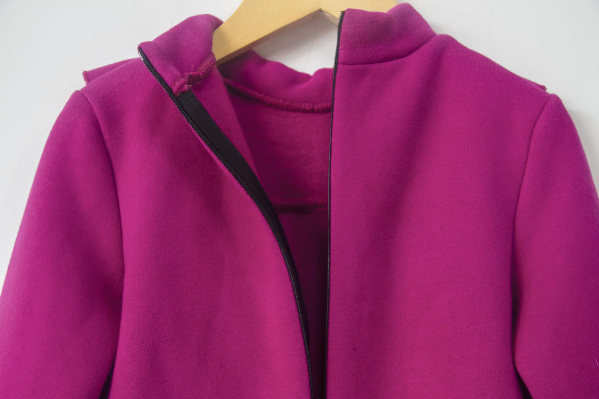 Thick Velvet Girls Dress 2018 Autumn Winter Teenager Girl Warm Fleece Purple Sweatshirt Dress Kids Ruffle Princess Party Frocks Y190516