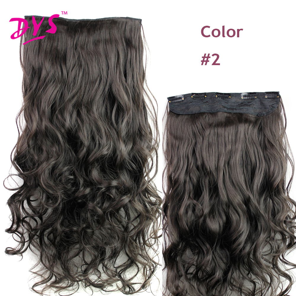 Deyngs 60CM One Piece 5 Clips in Hair Extensions For Women 34 Full Head Long Wavy16 Colors High Temperature Synthetic Fiber (3)