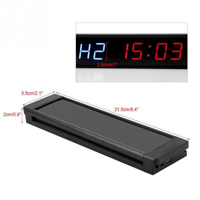 Programmable Training Timer Led Display Interval Timer Wall Clock With Remote For Gym Fitness Training T190620
