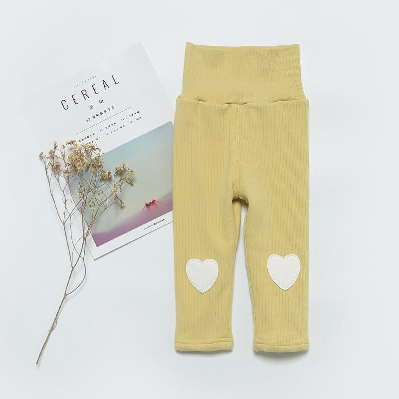 Girls Winter Leggings Velvet Kids Clothes Infant Clothing Baby Pants Girls Love Heart Shape Trousers Kids Girls Warm Leggings
